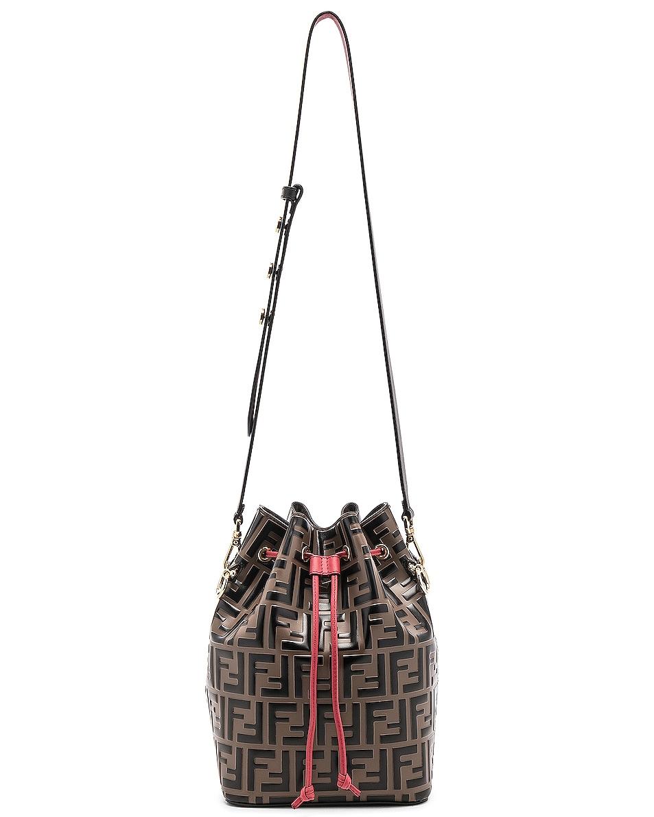 Image 6 of Fendi Mon Tresor Bag in Black & Strawberry