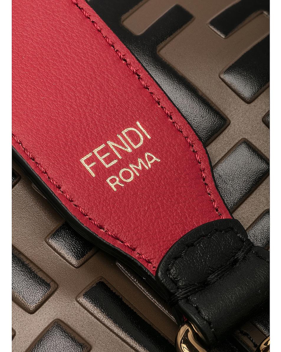 Image 7 of Fendi Mon Tresor Bag in Black & Strawberry