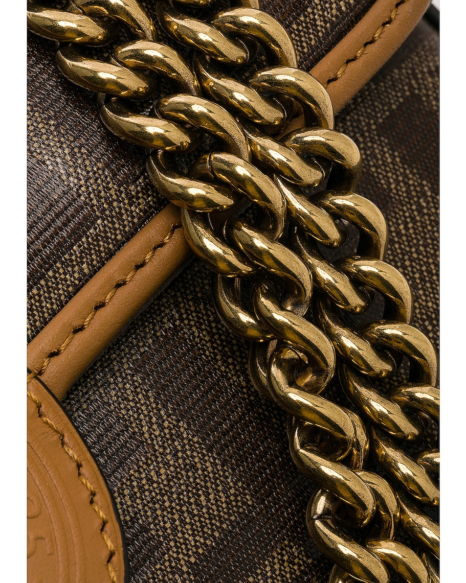 Image 7 of Fendi Logo Chain Crossbody Bag in Brown