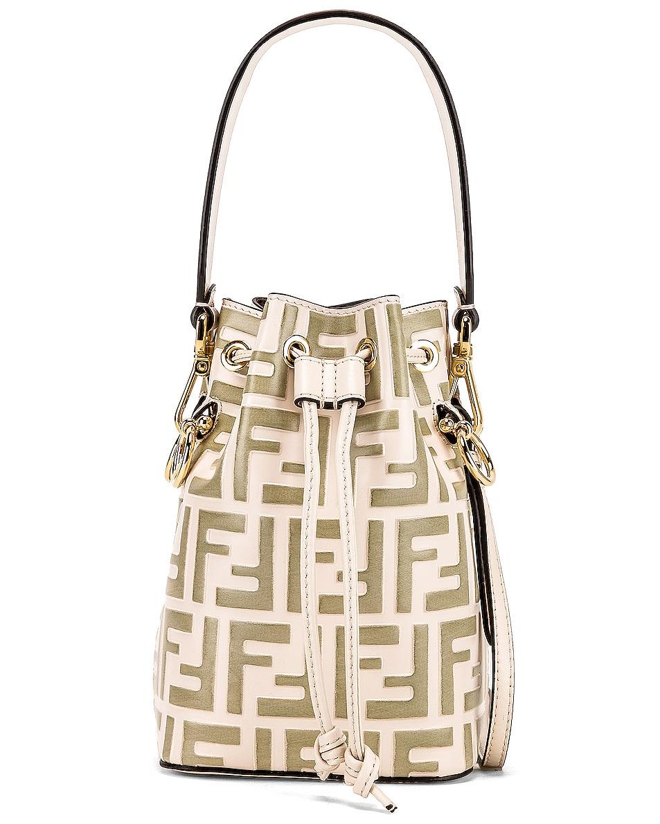 Image 1 of Fendi Mini Logo Mon Tresor Bag in Cream