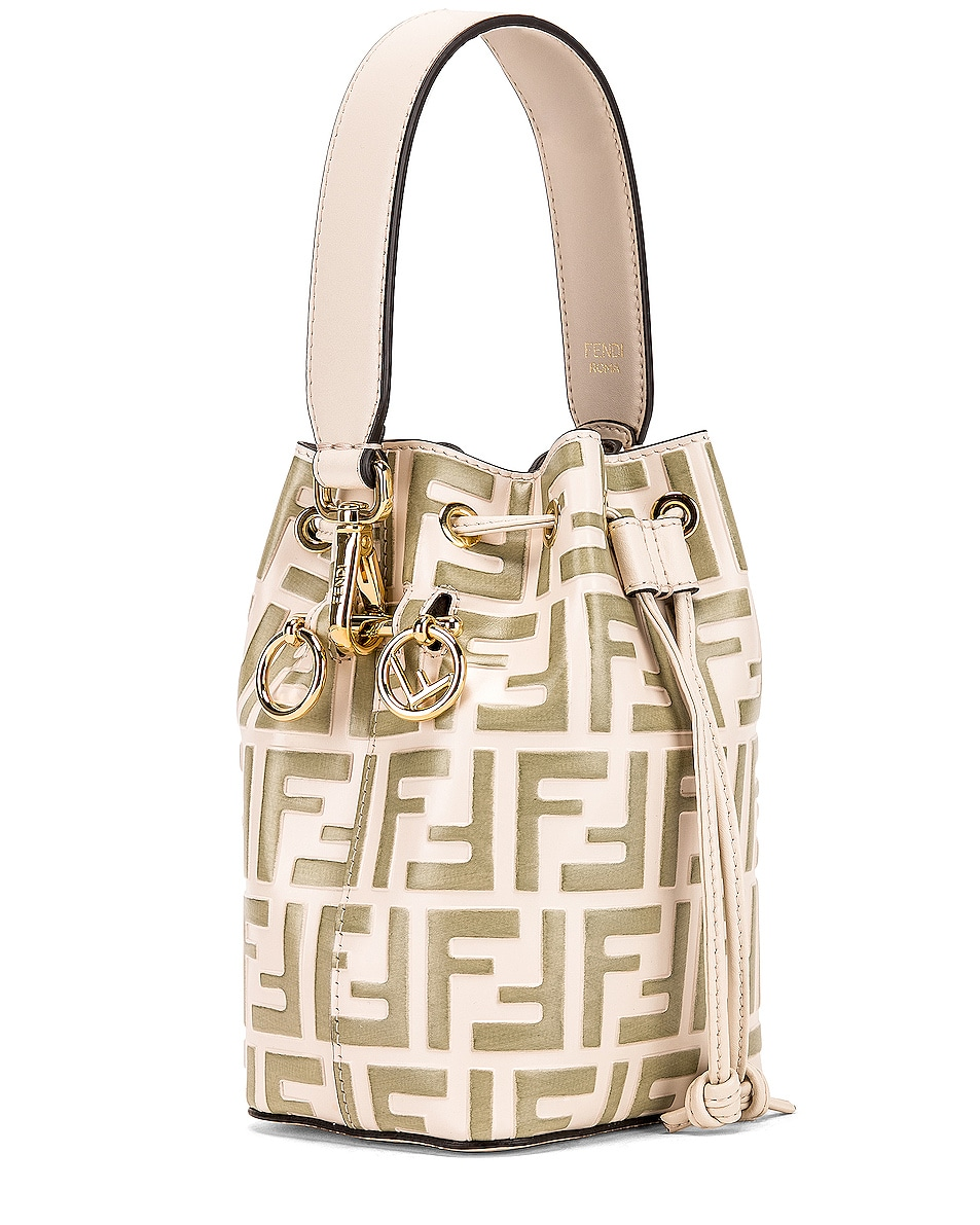 Image 4 of Fendi Mini Logo Mon Tresor Bag in Cream