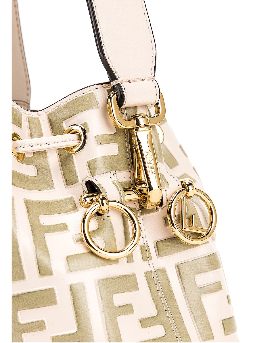 Image 8 of Fendi Mini Logo Mon Tresor Bag in Cream