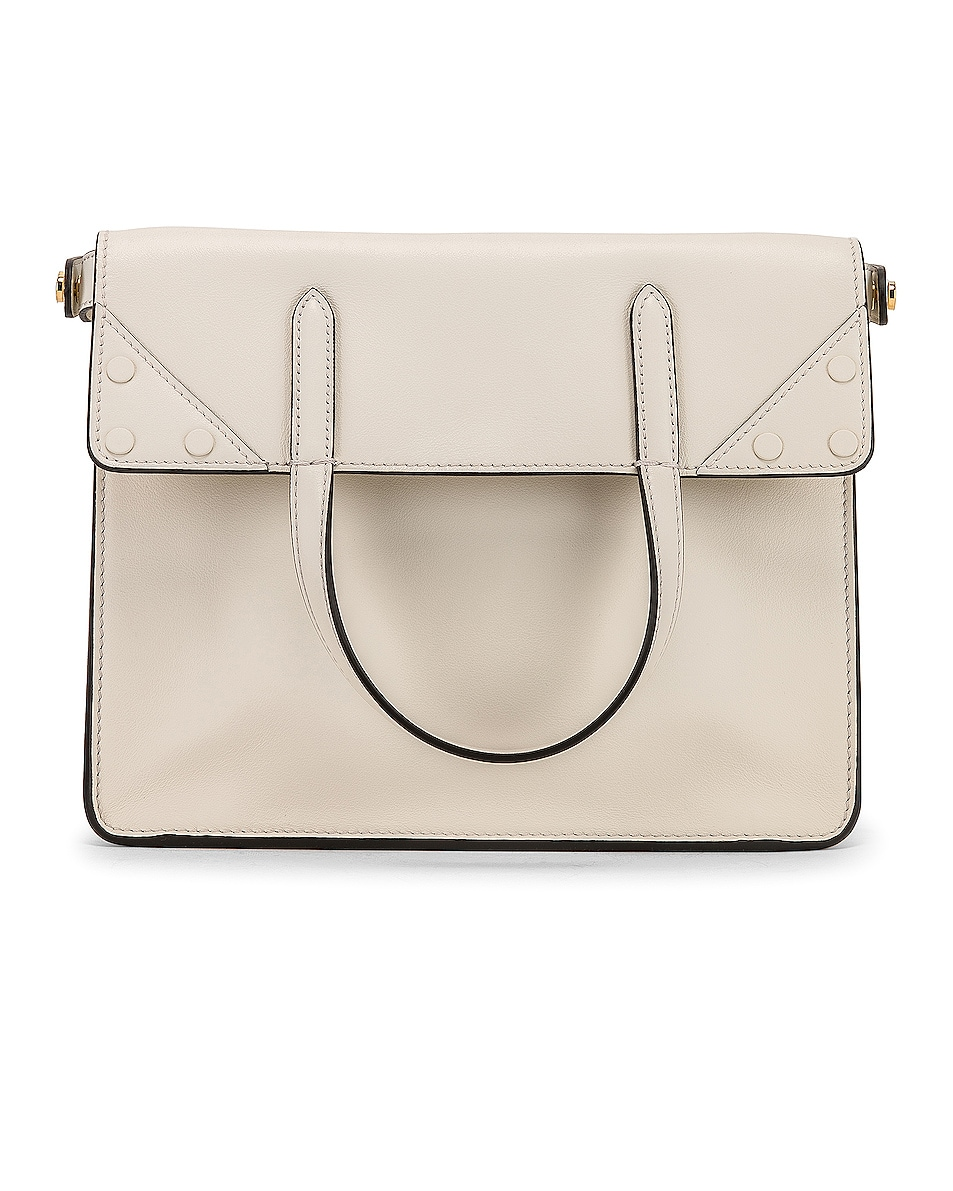 Image 3 of Fendi Small Flip Crossbody Bag in Ice White