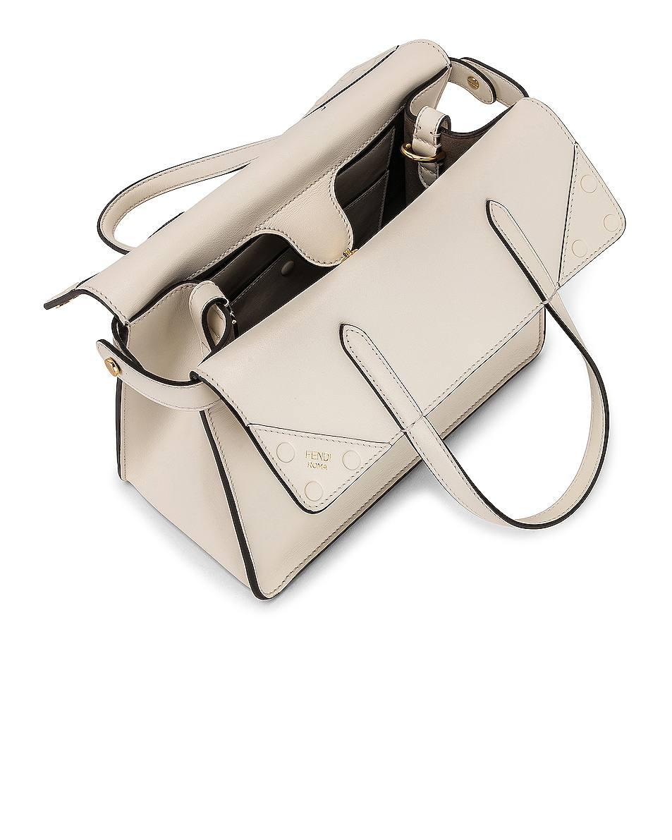 Image 5 of Fendi Small Flip Crossbody Bag in Ice White