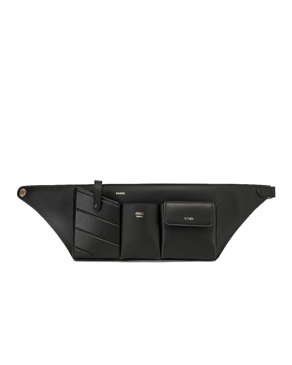 Image 1 of Fendi Pocket Belt Bag in Black