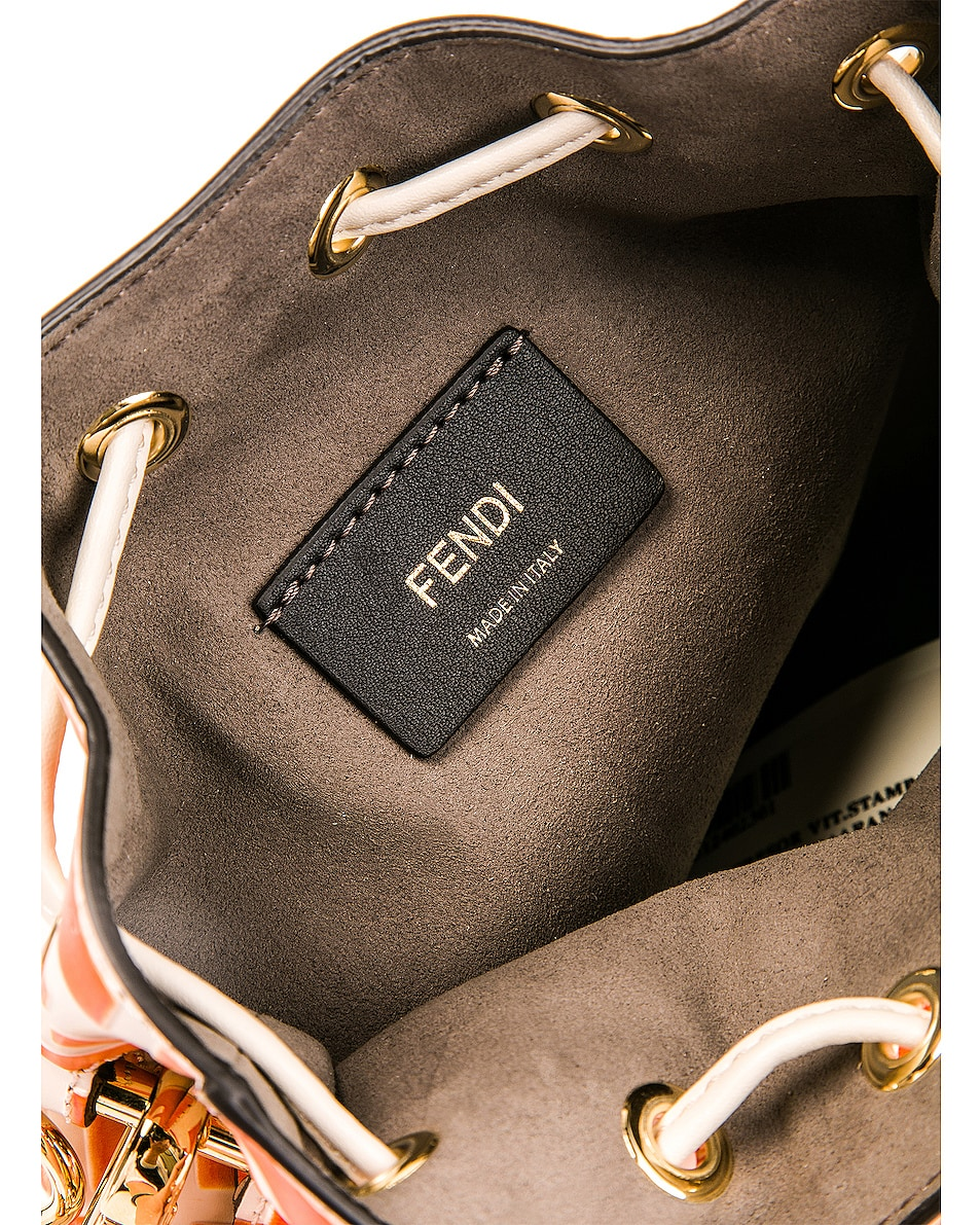 Image 7 of Fendi Mini Logo Mon Tresor in Cream & Orange