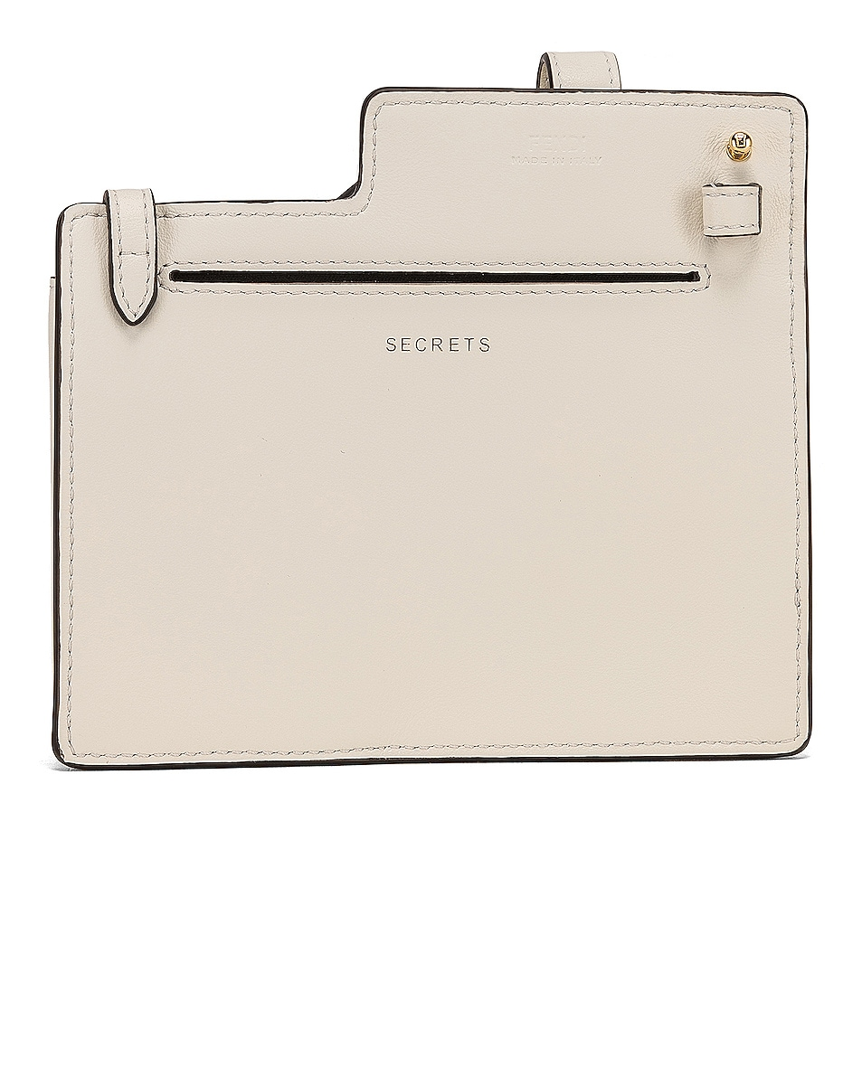 Image 3 of Fendi Mini Two Pocket Crossbody Bag in Ice White
