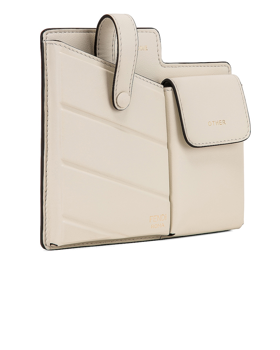 Image 4 of Fendi Mini Two Pocket Crossbody Bag in Ice White