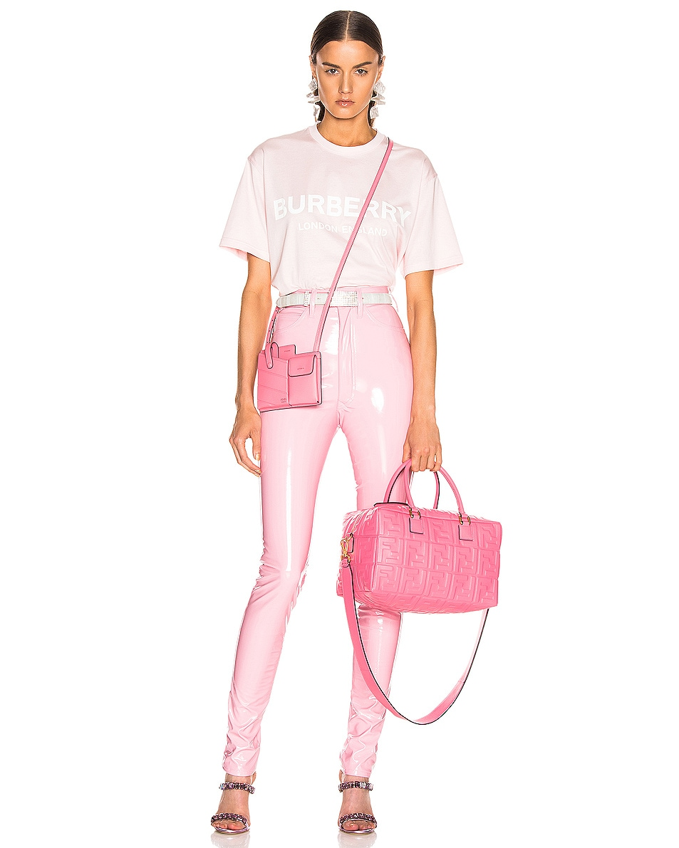 Image 2 of Fendi Mini Bustine Two Pocket Crossbody Bag in Pink