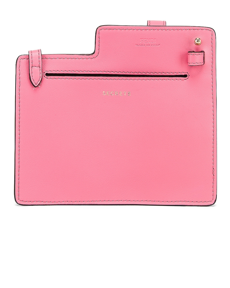 Image 3 of Fendi Mini Bustine Two Pocket Crossbody Bag in Pink