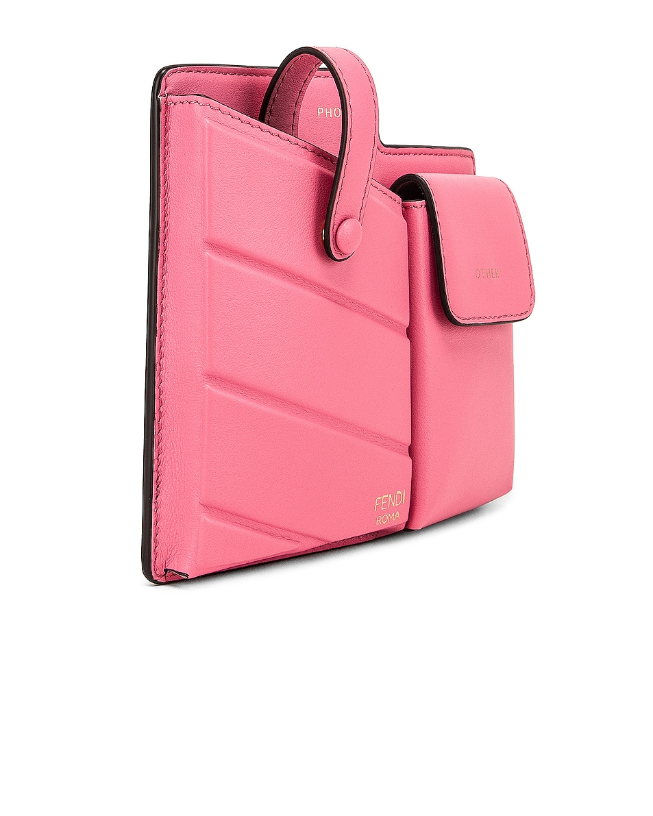 Image 4 of Fendi Mini Bustine Two Pocket Crossbody Bag in Pink