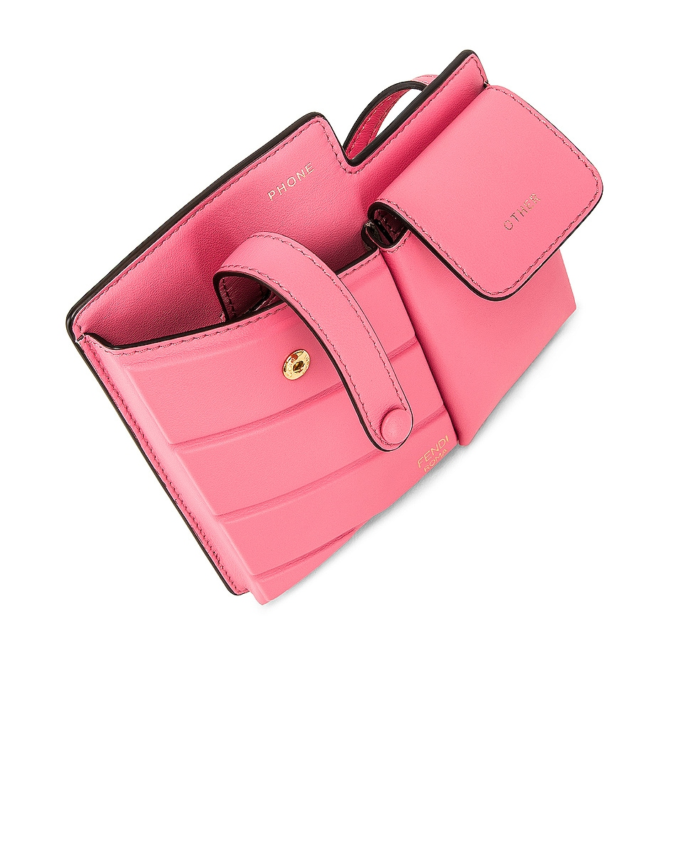 Image 5 of Fendi Mini Bustine Two Pocket Crossbody Bag in Pink