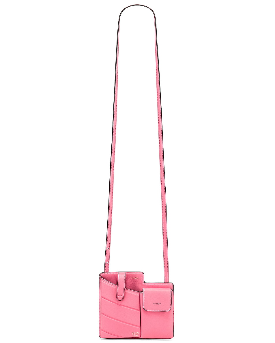 Image 6 of Fendi Mini Bustine Two Pocket Crossbody Bag in Pink