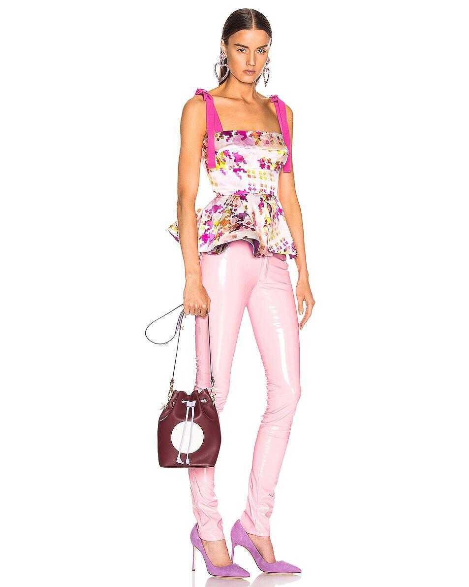 Image 2 of Fendi Mon Tresor Colorblock Crossbody Bag in Burgundy & White