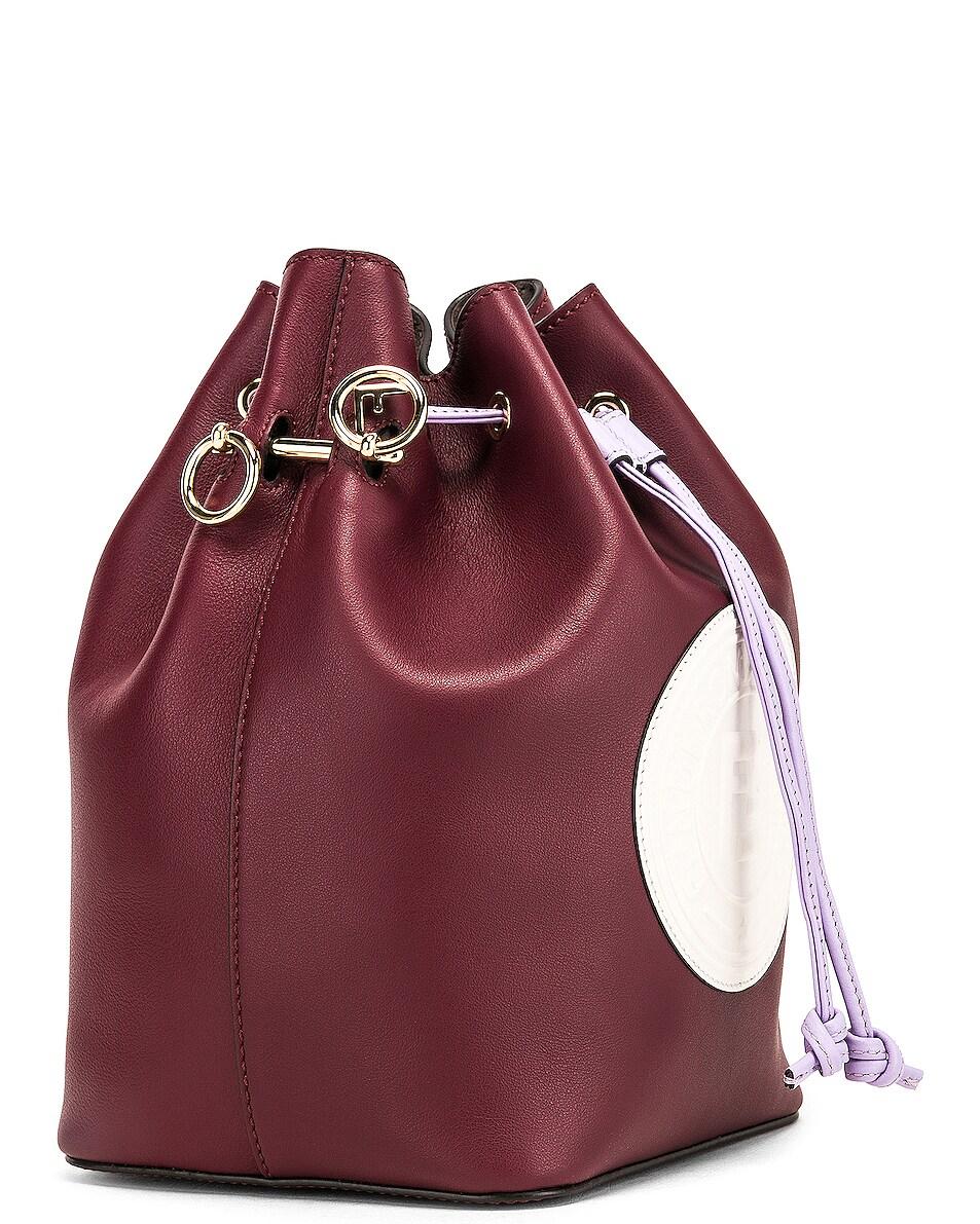 Image 4 of Fendi Mon Tresor Colorblock Crossbody Bag in Burgundy & White