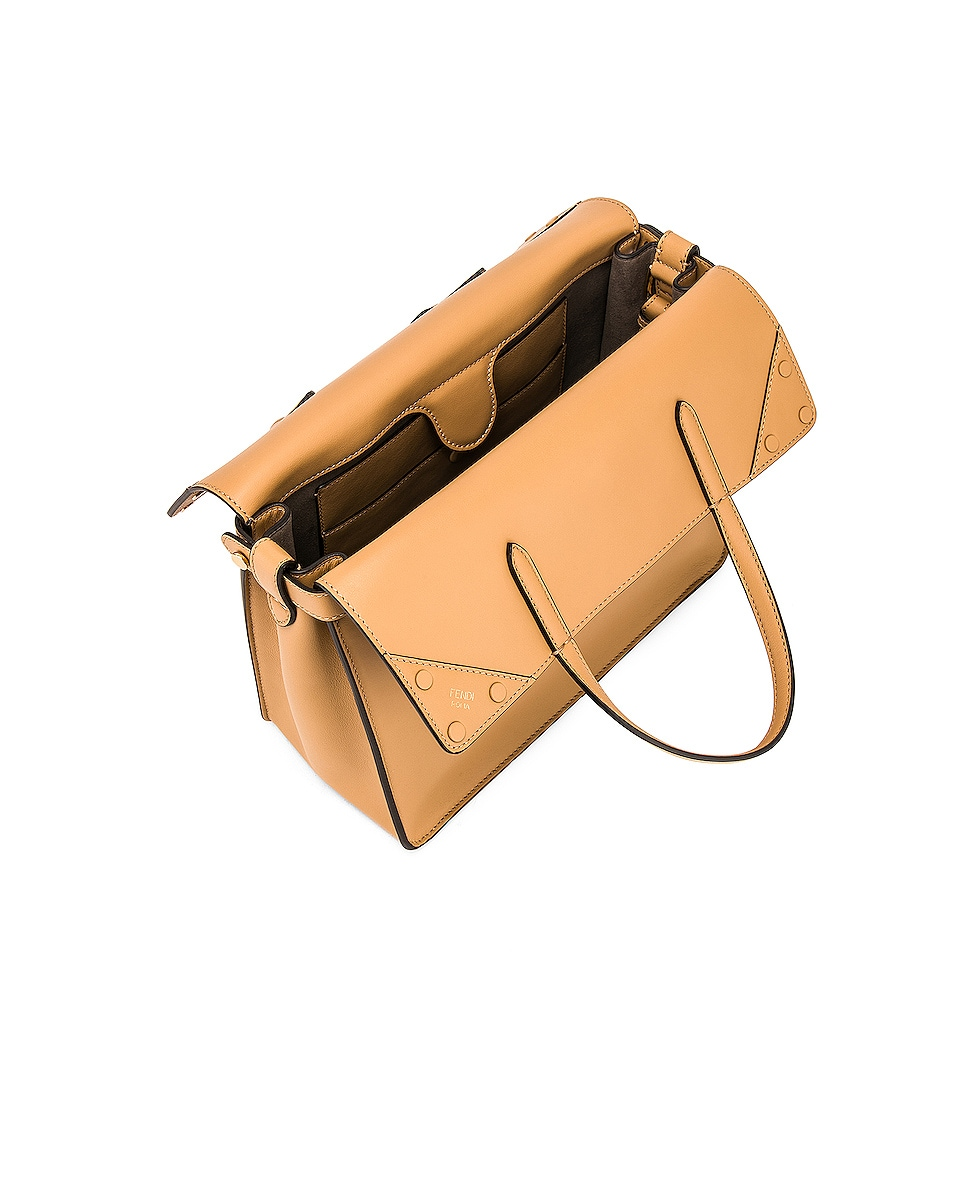 Image 5 of Fendi Regular Flip Crossbody Bag in Dark Honey