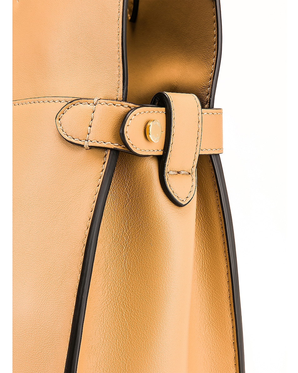Image 8 of Fendi Regular Flip Crossbody Bag in Dark Honey
