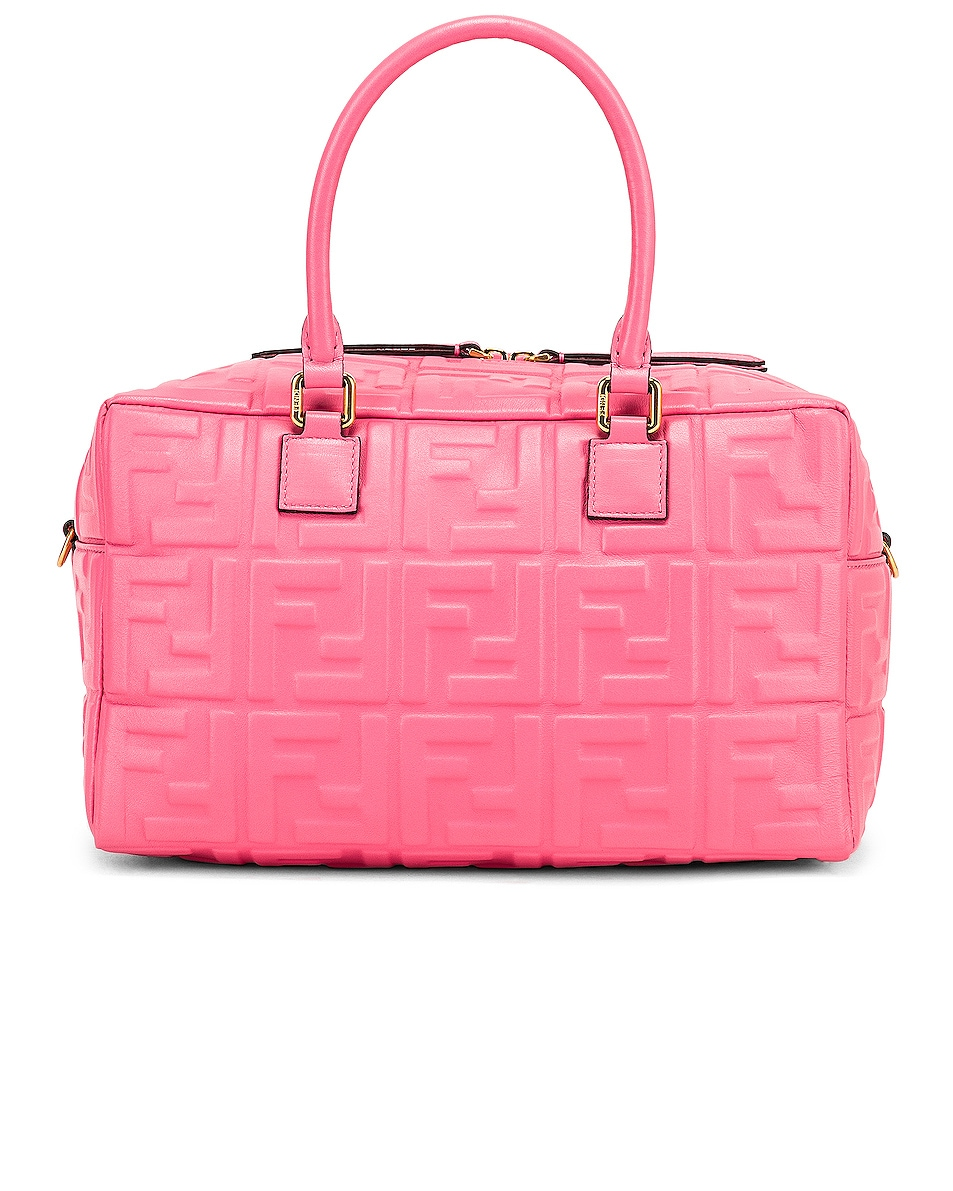 Image 3 of Fendi Logo Crossbody Duffel in Fluo Pink