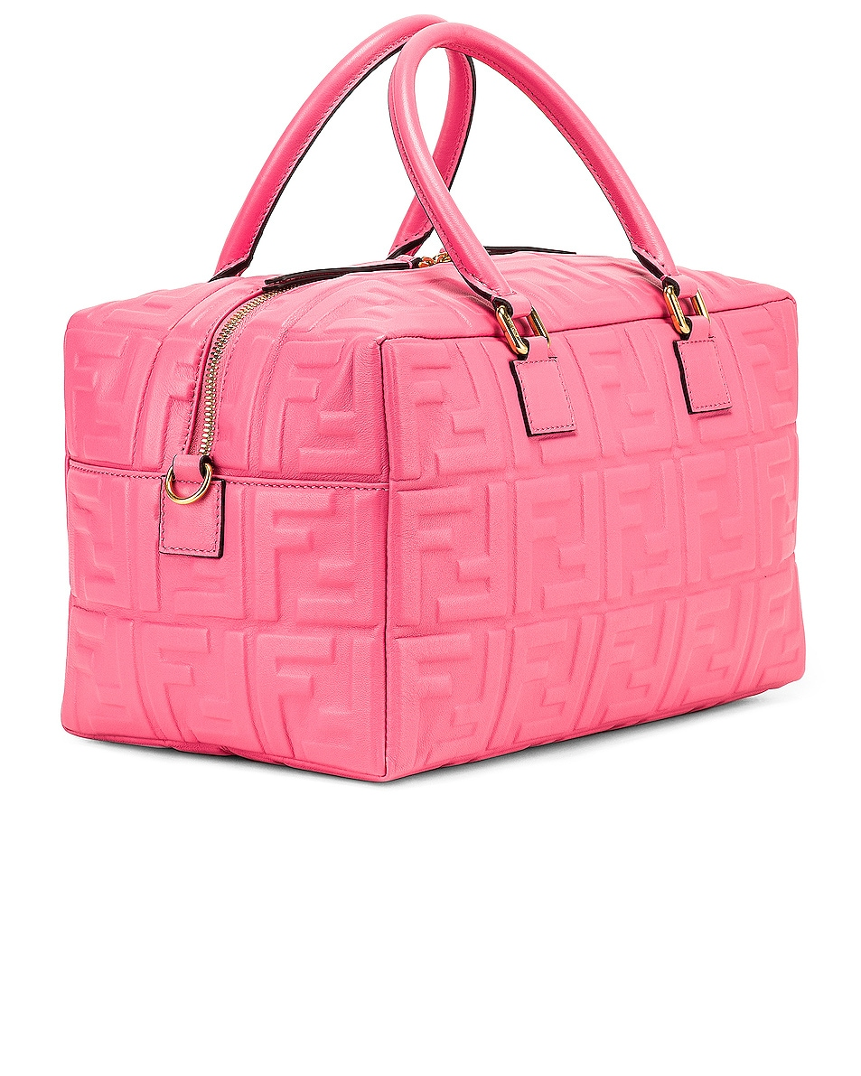 Image 4 of Fendi Logo Crossbody Duffel in Fluo Pink