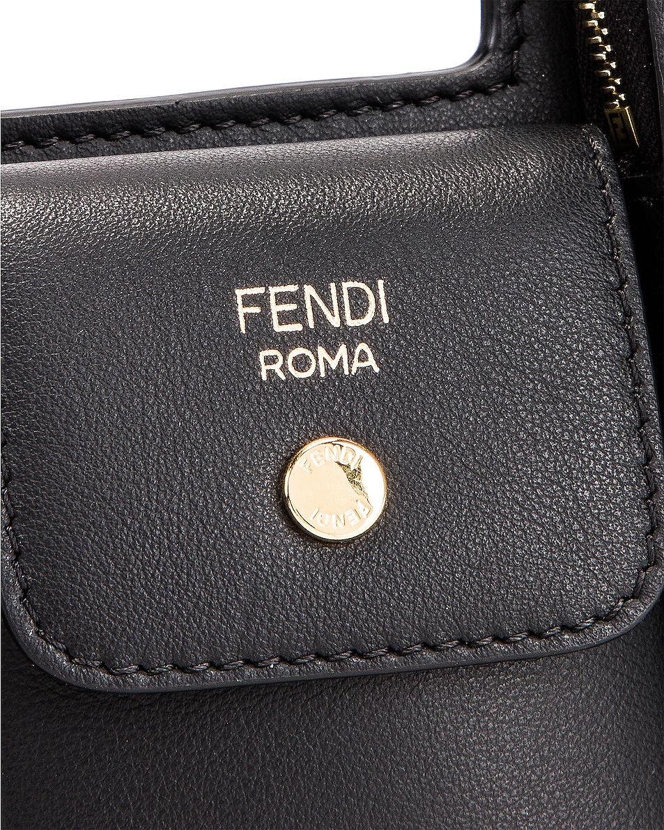 Image 7 of Fendi Mini Three Pocket Crossbody Bag in Black