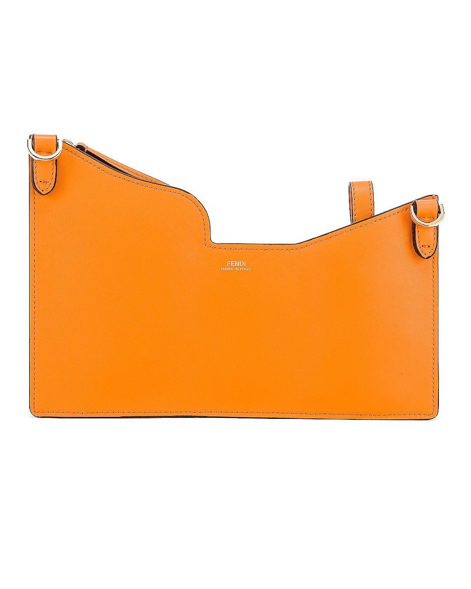 Image 3 of Fendi Mini Three Pocket Crossbody in Orange