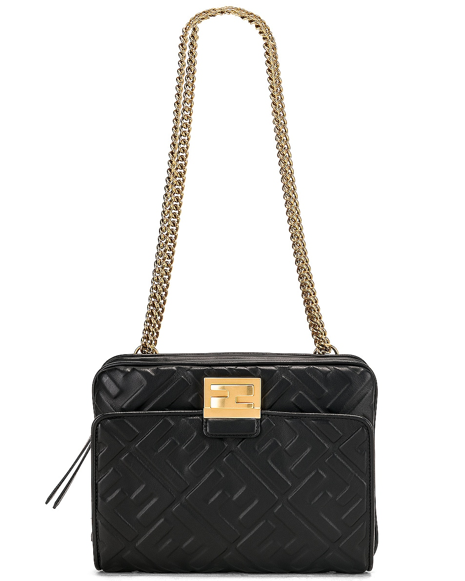 Image 1 of Fendi Upside Down Crossbody Bag in Black