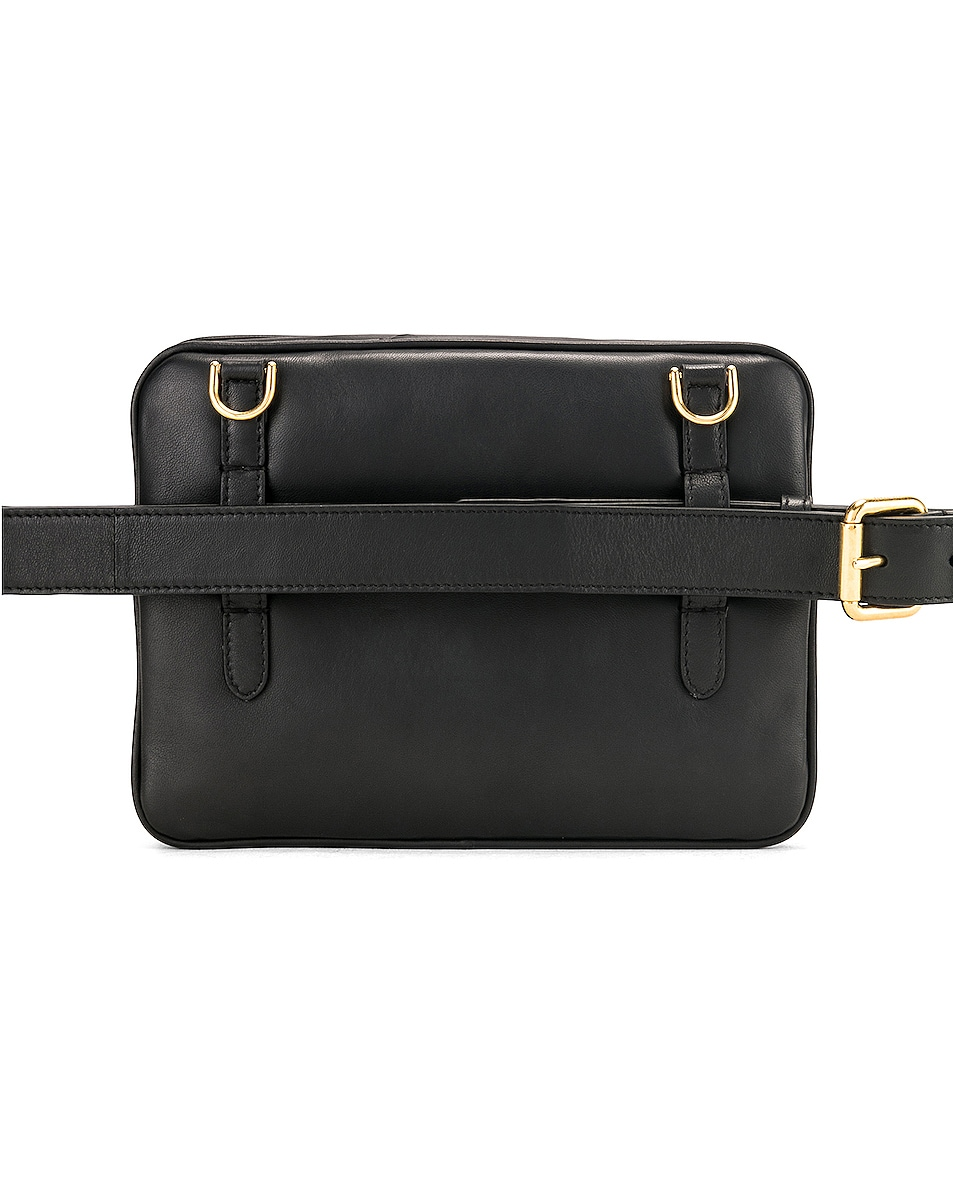 Image 4 of Fendi Upside Down Crossbody Bag in Black