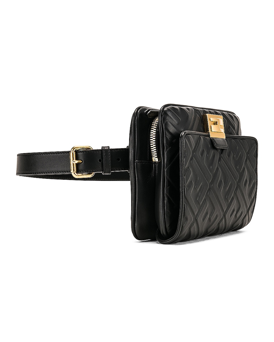 Image 5 of Fendi Upside Down Crossbody Bag in Black