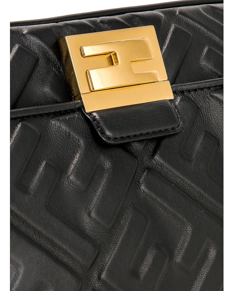Image 8 of Fendi Upside Down Crossbody Bag in Black