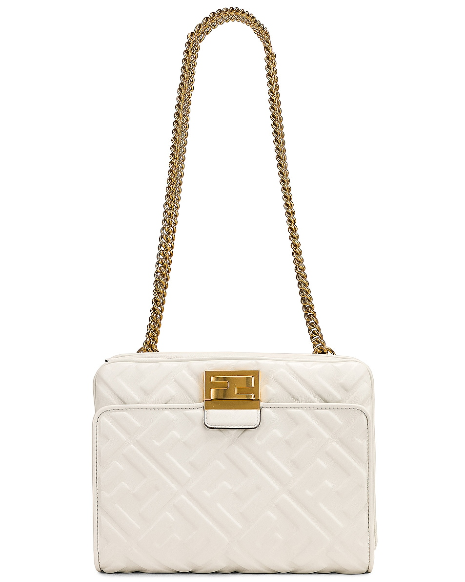 Image 1 of Fendi Upside Down Crossbody Bag in White