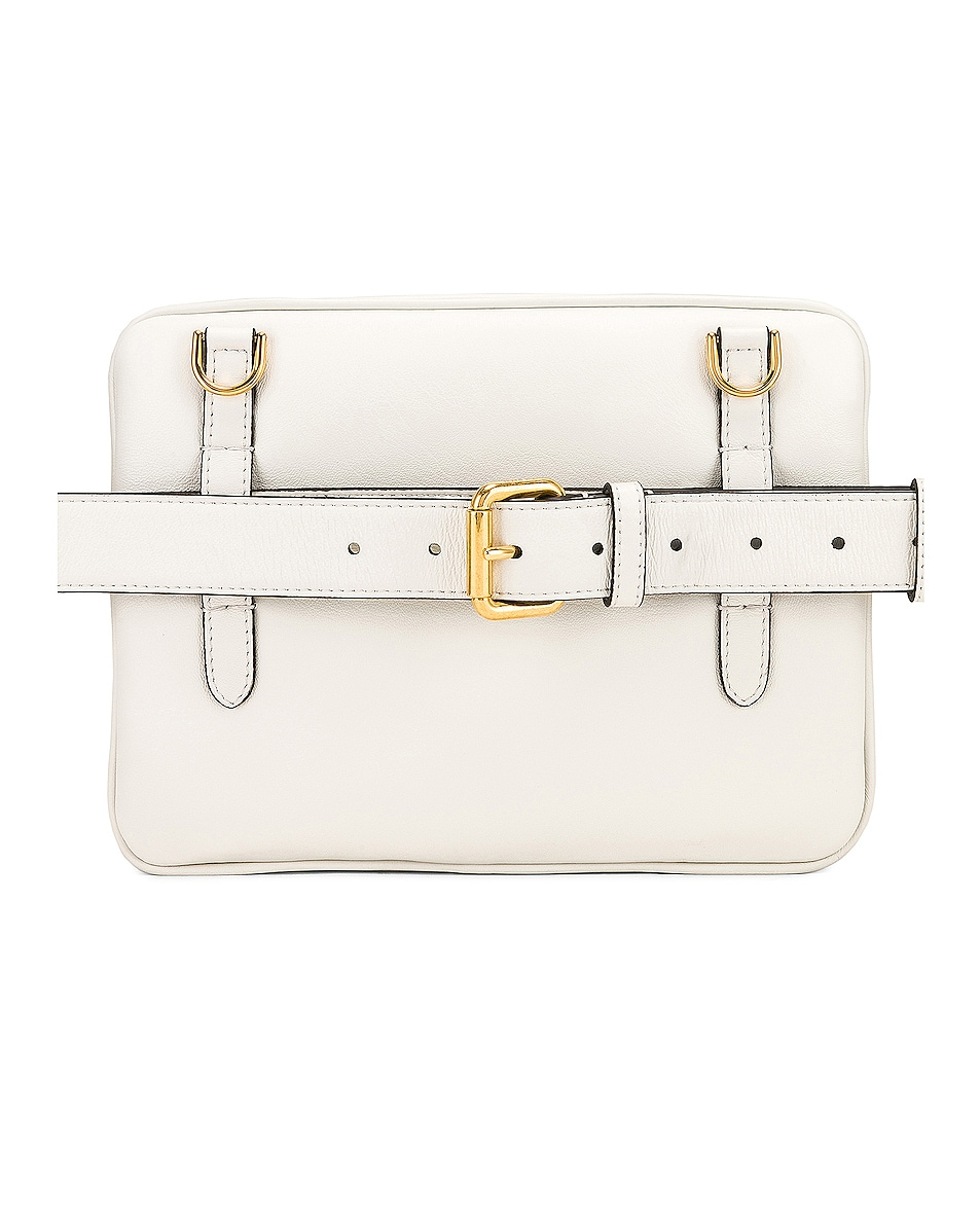 Image 4 of Fendi Upside Down Crossbody Bag in White