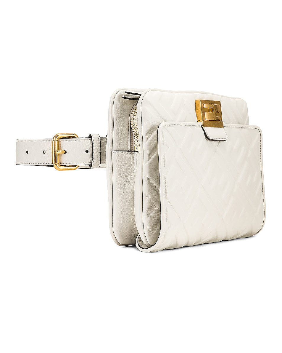 Image 5 of Fendi Upside Down Crossbody Bag in White