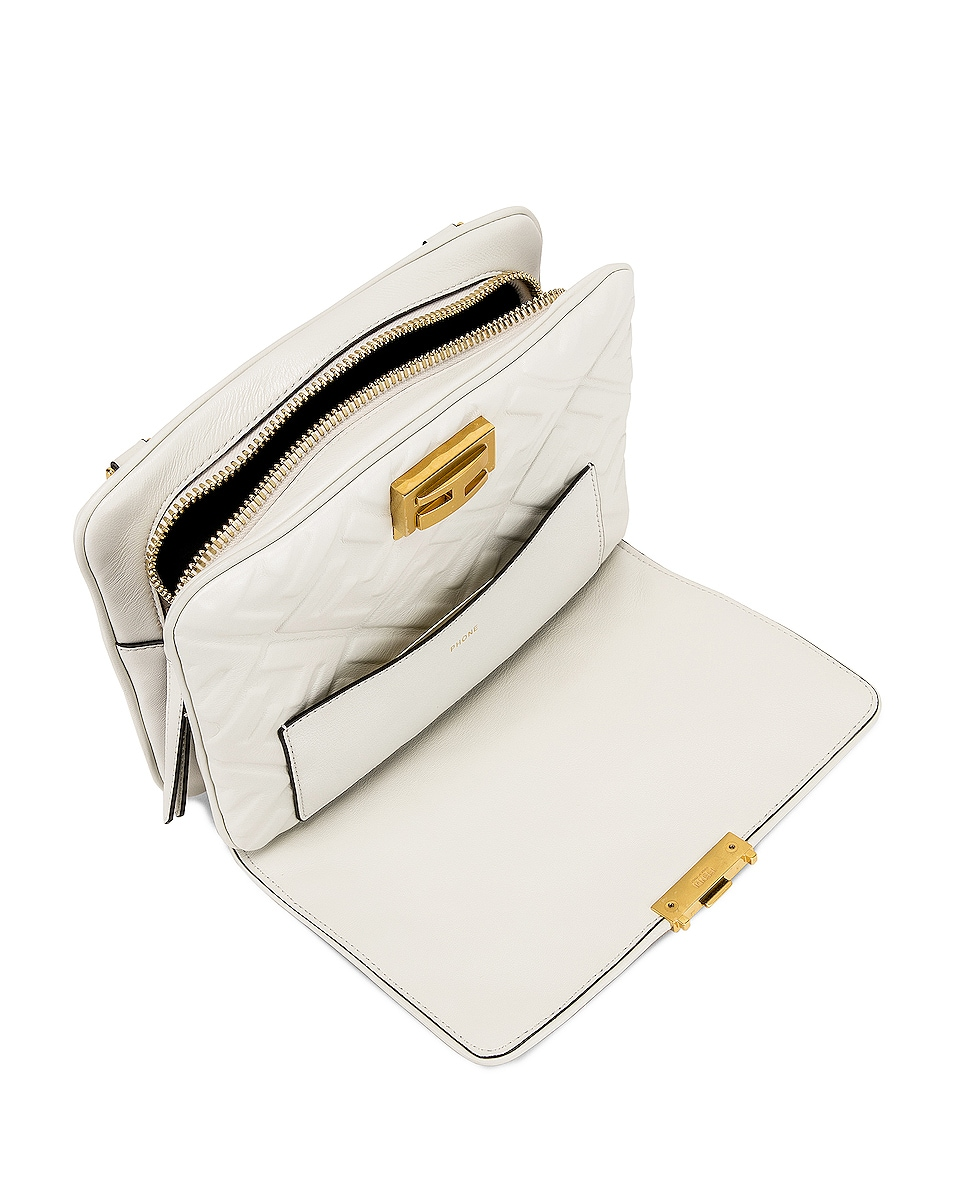 Image 6 of Fendi Upside Down Crossbody Bag in White