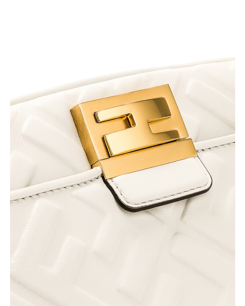 Image 8 of Fendi Upside Down Crossbody Bag in White