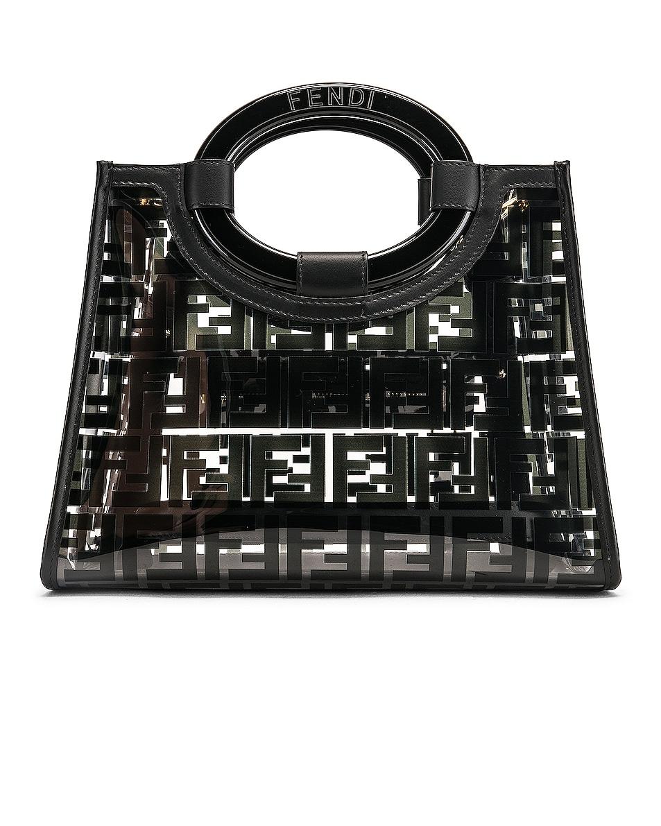 Image 3 of Fendi Mini Runaway Shopper Tote in Black