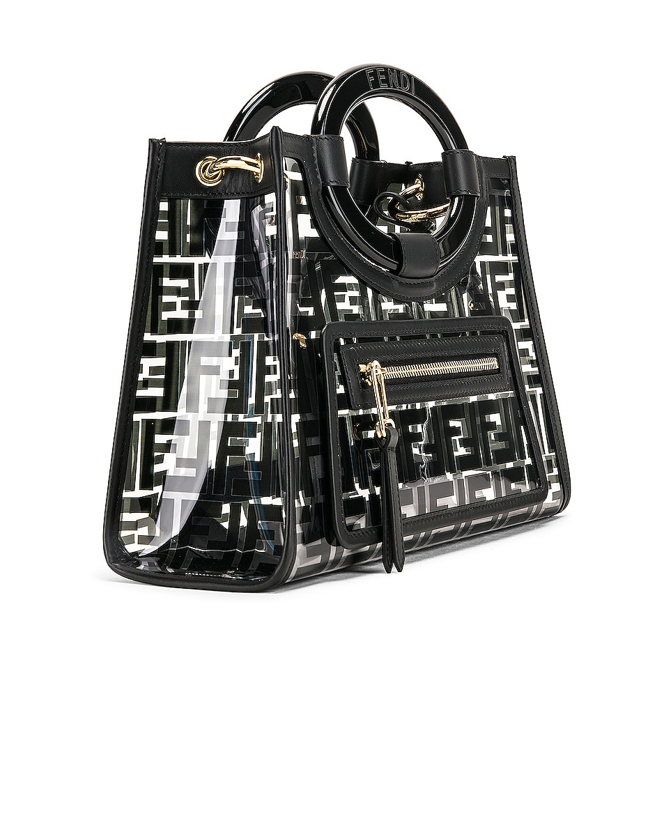 Image 4 of Fendi Mini Runaway Shopper Tote in Black