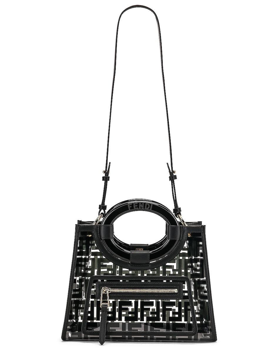 Image 6 of Fendi Mini Runaway Shopper Tote in Black