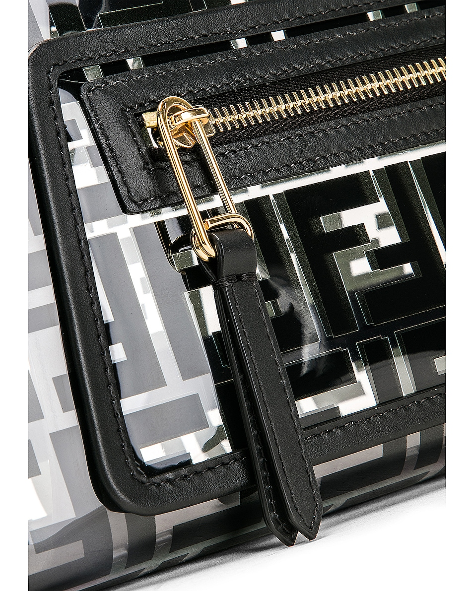 Image 8 of Fendi Mini Runaway Shopper Tote in Black