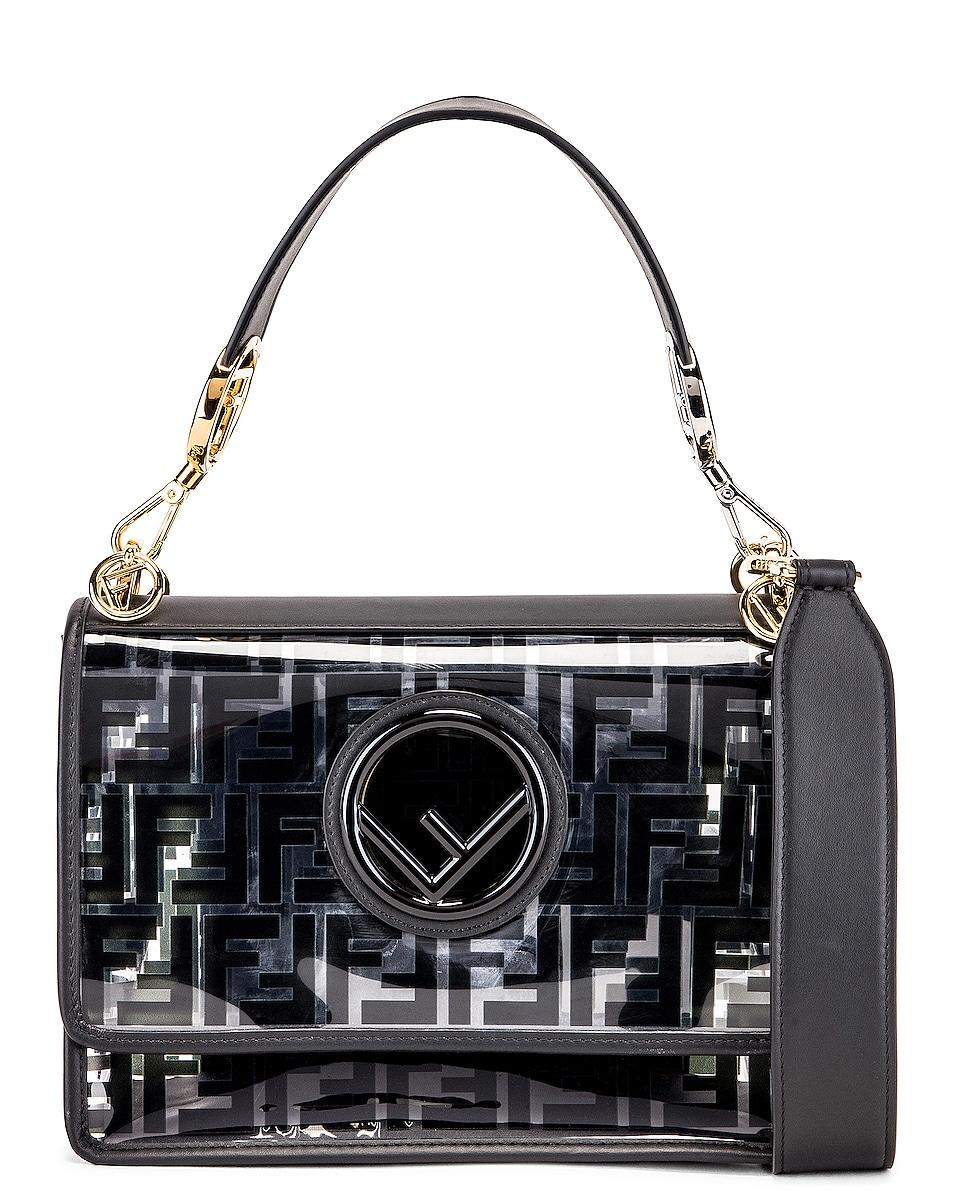 Image 1 of Fendi Kan I Logo Crossbody Bag in Black