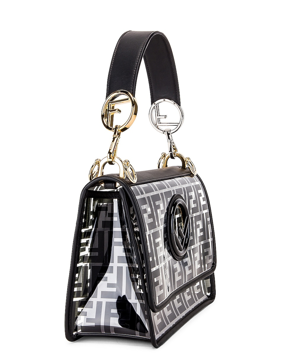Image 4 of Fendi Kan I Logo Crossbody Bag in Black