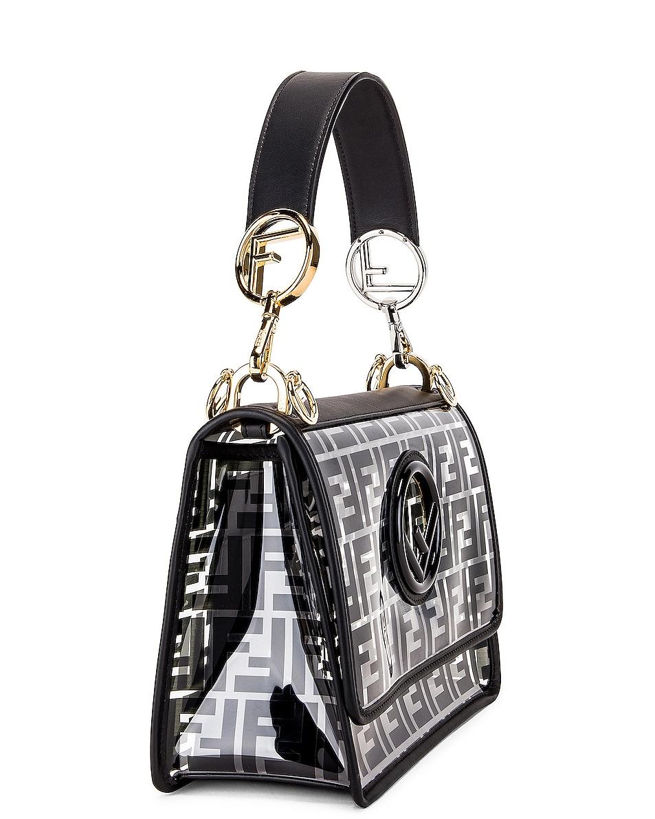 Image 4 of Fendi Kan I Logo Crossbody Bag in Black
