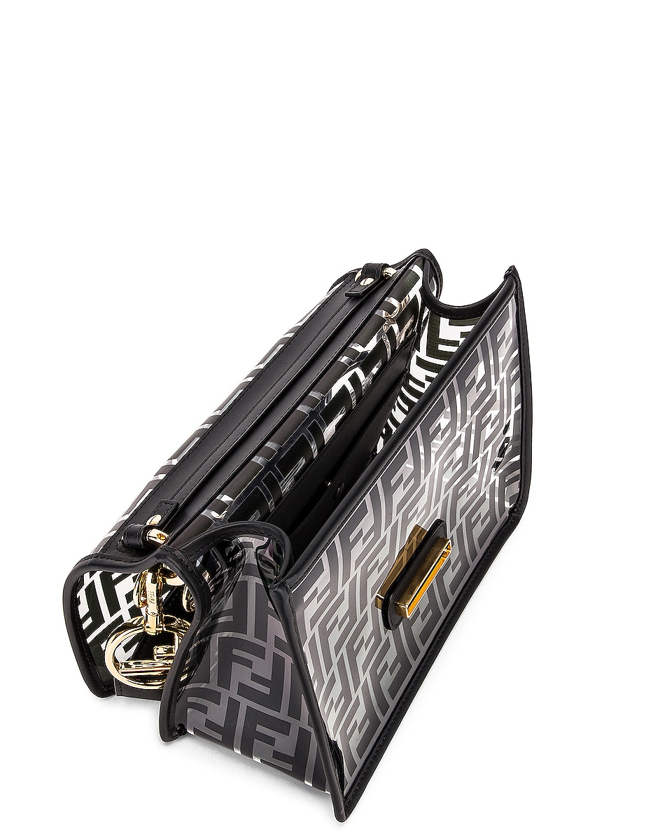 Image 5 of Fendi Kan I Logo Crossbody Bag in Black