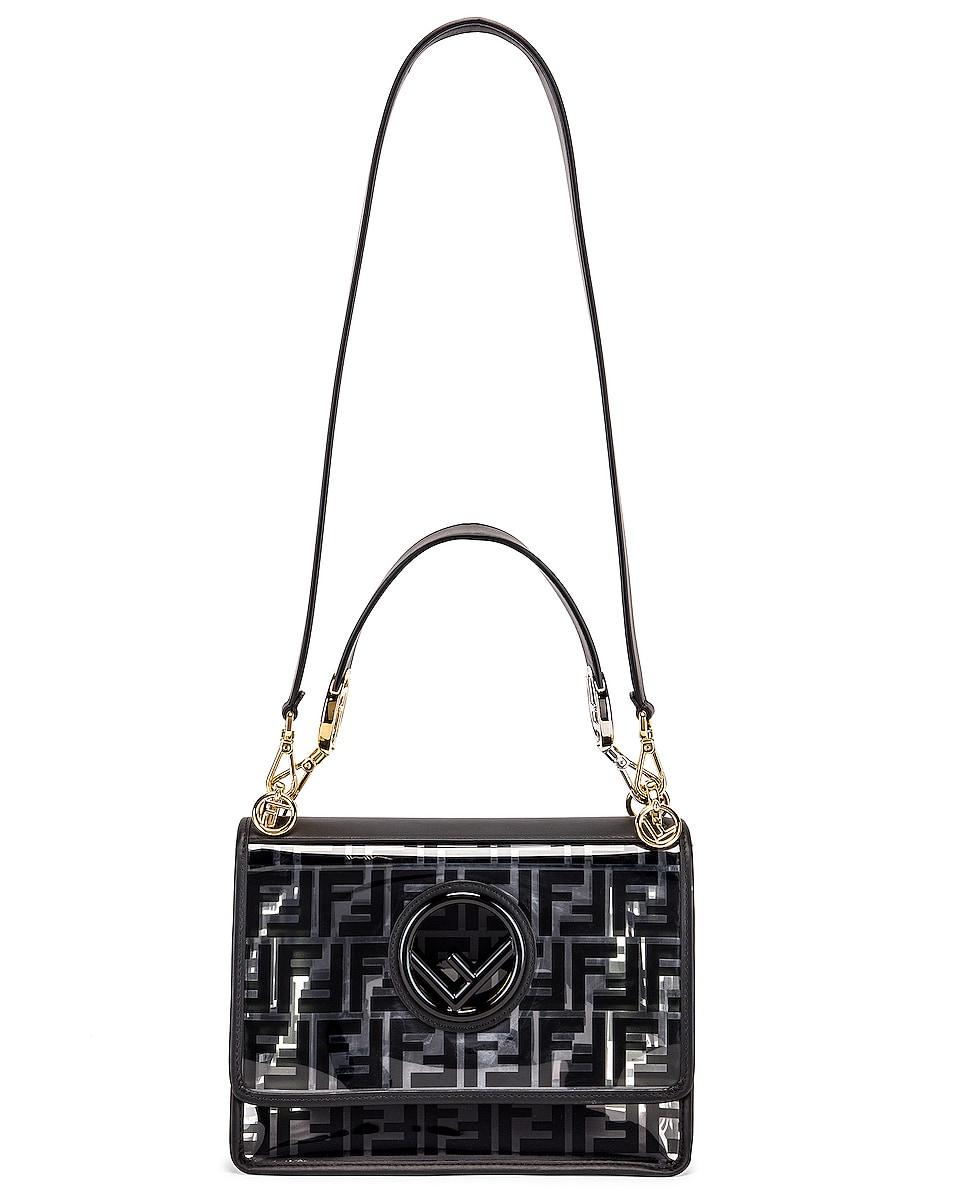 Image 6 of Fendi Kan I Logo Crossbody Bag in Black