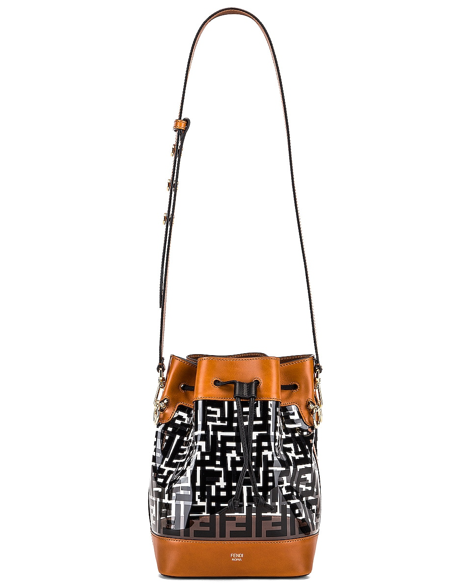 Image 6 of Fendi Mon Tresor Logo Crossbody Bag in Black & Brown
