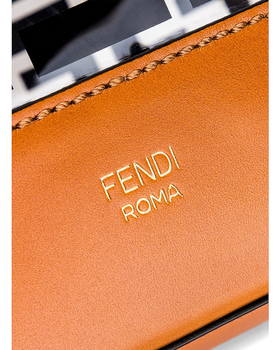 Image 7 of Fendi Mon Tresor Logo Crossbody Bag in Black & Brown