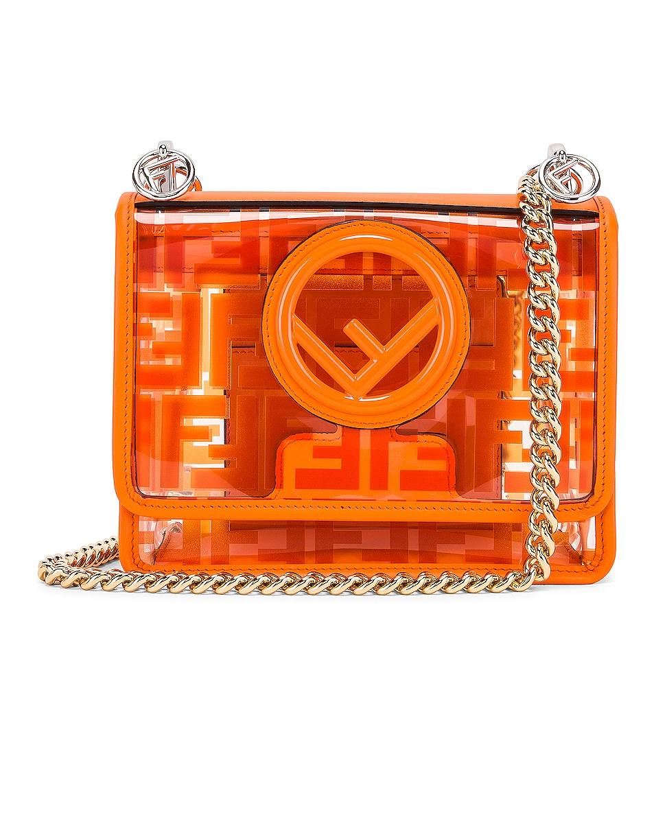 Image 1 of Fendi Kan I Small Logo Crossbody Bag in Orange
