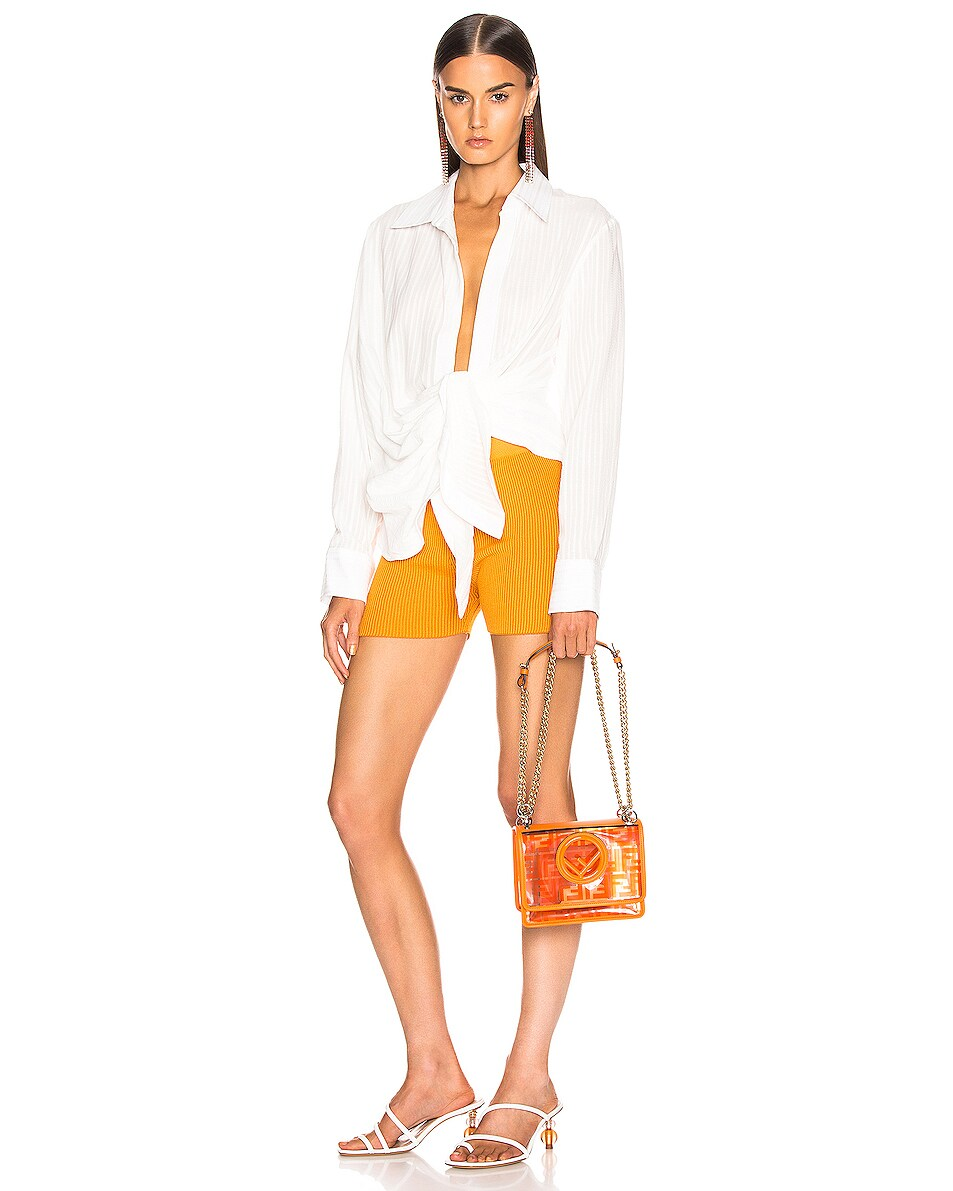 Image 2 of Fendi Kan I Small Logo Crossbody Bag in Orange