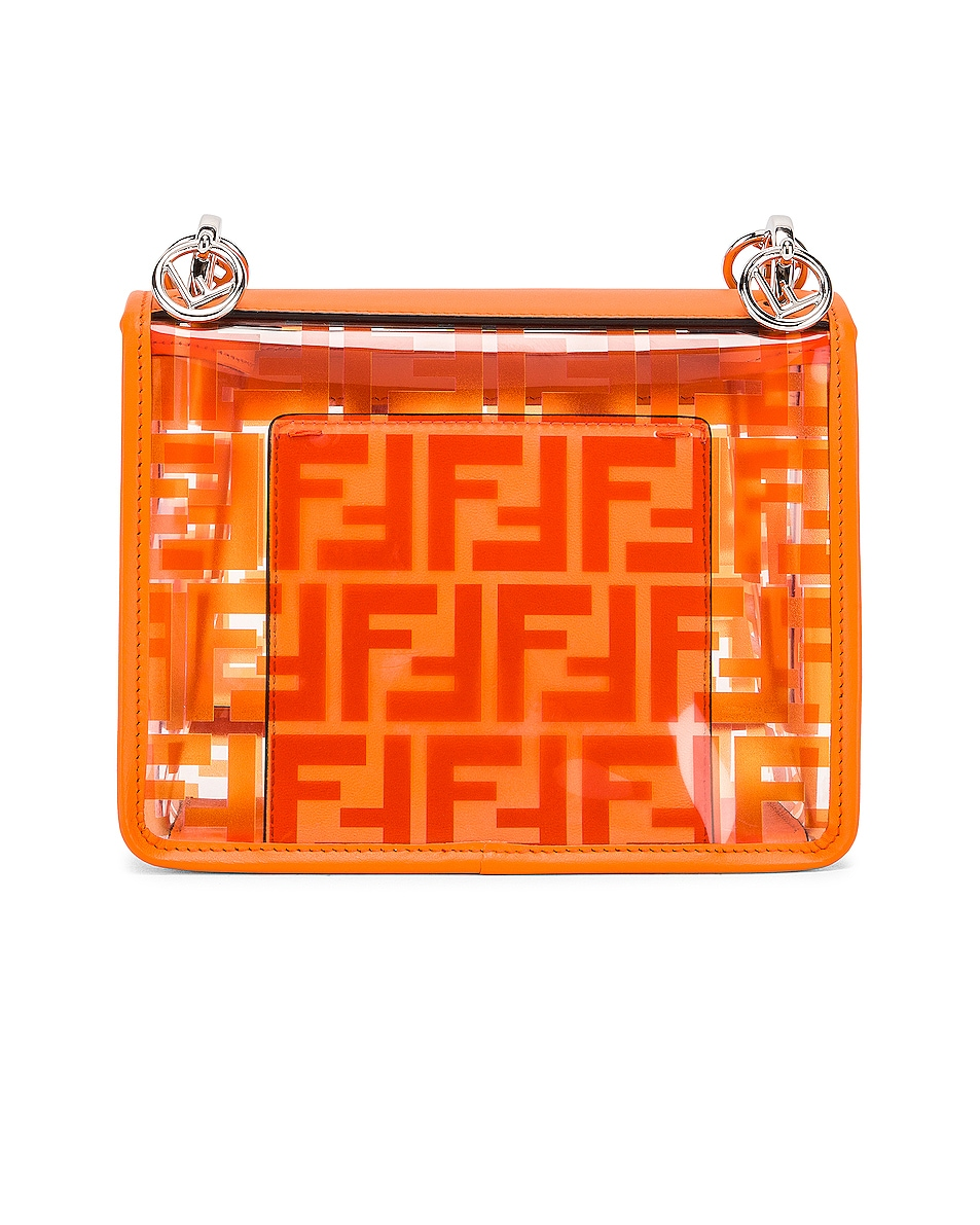 Image 3 of Fendi Kan I Small Logo Crossbody Bag in Orange