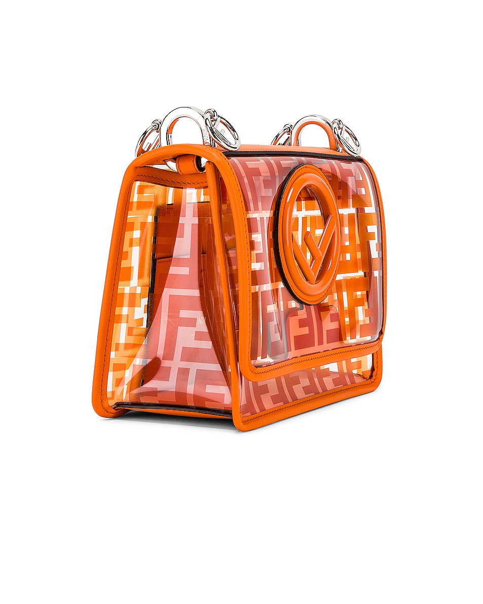 Image 4 of Fendi Kan I Small Logo Crossbody Bag in Orange