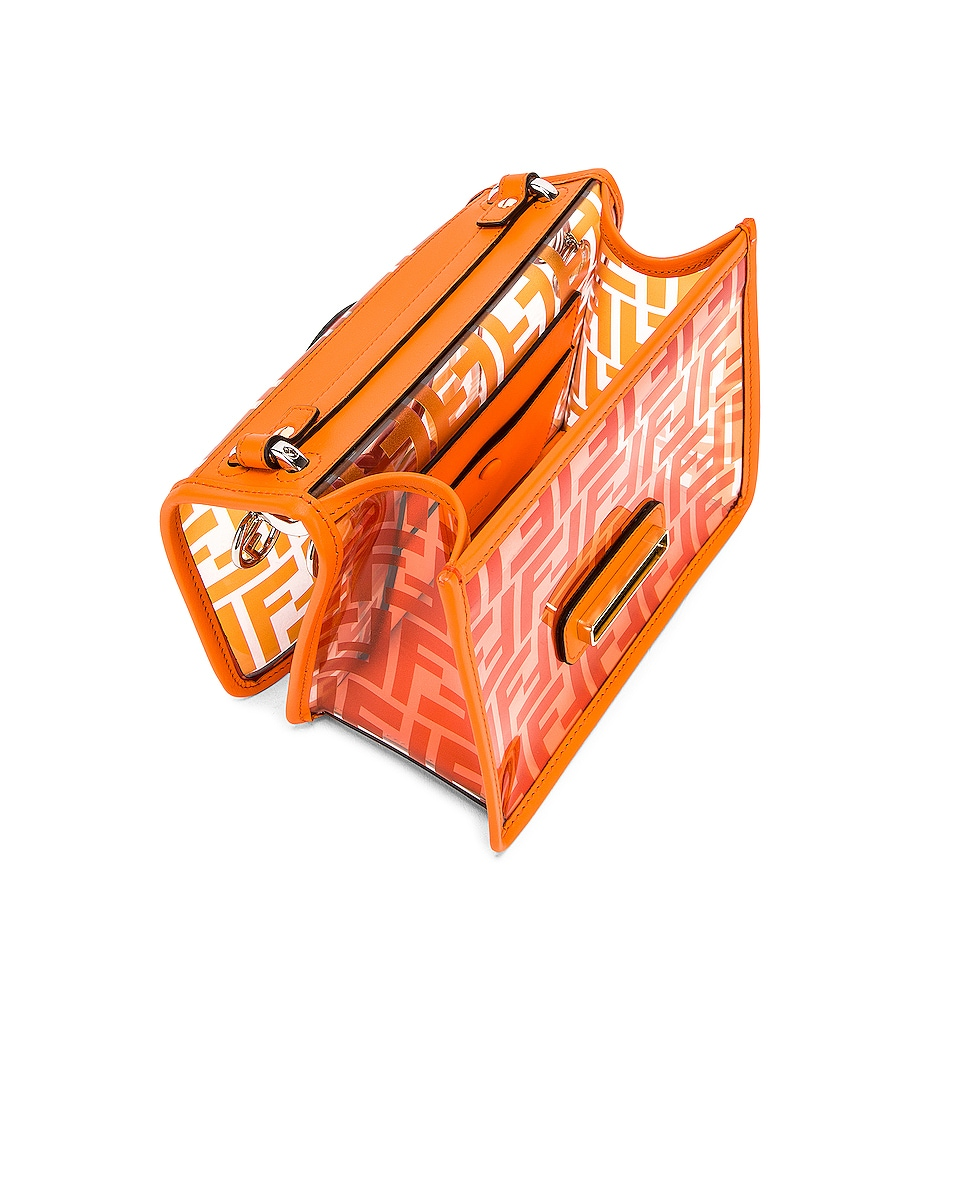 Image 5 of Fendi Kan I Small Logo Crossbody Bag in Orange